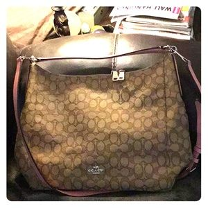 Coach Jaquard Shoulder Bag